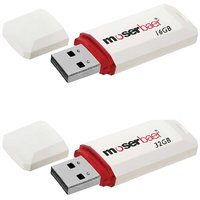 Moserbaer Knight 16GB and 32GB Pen Drive (White) Pack of 2
