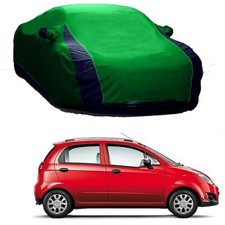 DrivingAID Car Cover For Mahindra Vertio (Designer Green  Blue )