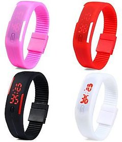 indikart Digital LED 4 Watches Combo For Boys,Girls And Kids in D2D