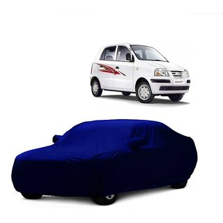 InTrend UV Resistant Car Cover For Maruti Suzuki Esteem (Blue With Mirror )