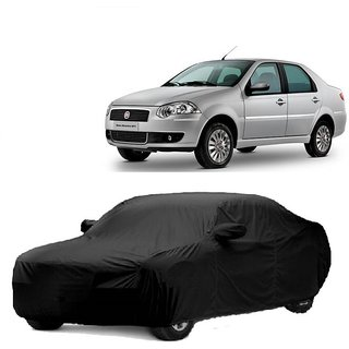 InTrend UV Resistant Car Cover For Maruti Suzuki SX4 (Black With Mirror )