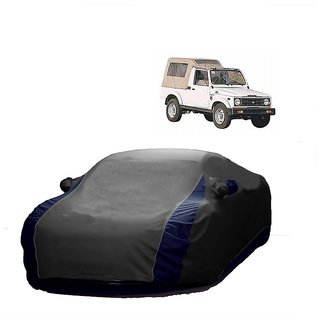 SpeedGlorY All Weather  Car Cover For Maruti Suzuki Gypsy King (Designer Grey  Blue )