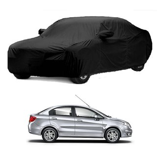 SpeedGlorY All Weather  Car Cover For Maruti Suzuki Swift Dzire (Black With Mirror )