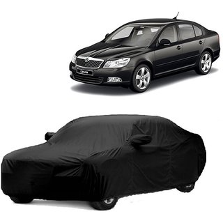 Speediza Water Resistant  Car Cover For Skoda Laura (Black With Mirror )