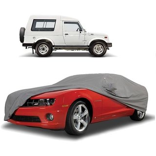 SpeedGlorY All Weather  Car Cover For Maruti Suzuki Gypsy (Grey With Mirror )