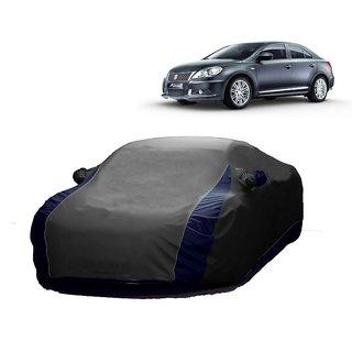 AutoBurn Car Cover For Fiat Linea (Designer Grey  Blue )