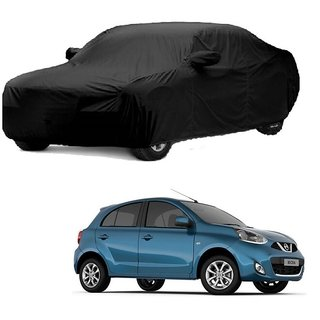 Speediza All Weather  Car Cover For Fiat Palio (Black With Mirror )