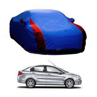 SpeedGlorY All Weather  Car Cover For Maruti Suzuki Swift Dzire (Designer Blue  Red )
