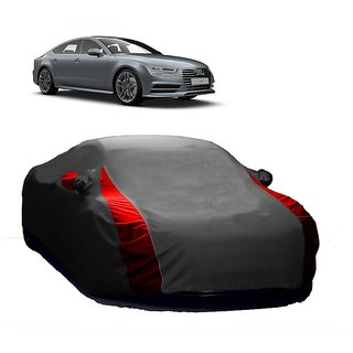 SpeedGlorY All Weather  Car Cover For Audi A4 (Designer Grey  Red )
