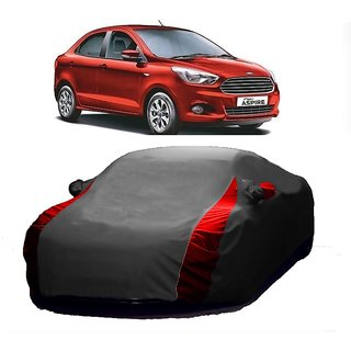 AutoBurn Car Cover For Toyota Avalon (Designer Grey  Red )