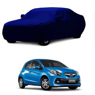 Speediza All Weather  Car Cover For Ford Aspire (Blue With Mirror )