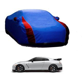 AutoBurn Car Cover For Hyundai Grand I10 (Designer Blue  Red )