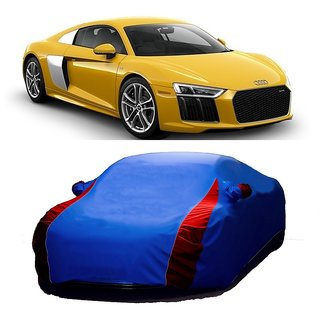 AutoBurn Car Cover For Renault Scala (Designer Blue  Red )