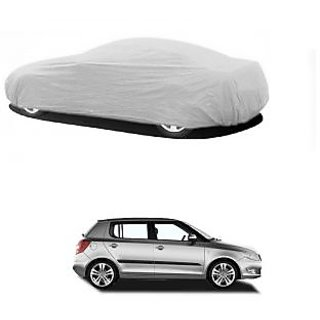 SpeedGlorY All Weather  Car Cover For Toyota Etios (Silver Without Mirror )