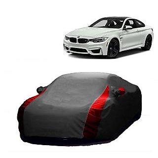 AutoBurn Car Cover For Chevrolet Optra (Designer Grey  Red )