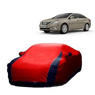 SpeedGlorY All Weather  Car Cover For Tata Tiago (Designer Red  Blue )
