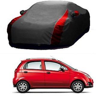 SpeedRo All Weather  Car Cover For Hyundai Verna Fluidic (Designer Grey  Red )