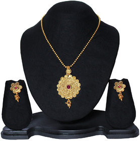 16 plus Fashion Wedding wear Flower Pendant with earrings Set for women