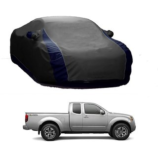 SpeedGlorY All Weather  Car Cover For Toyota Fortuner (Designer Grey  Blue )