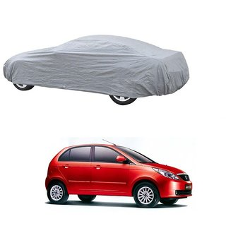 SpeedGlorY All Weather  Car Cover For Tata Indica Vista (Silver Without Mirror )