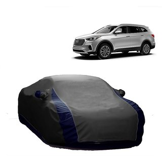 AutoBurn Car Cover For Mahindra Thar (Designer Grey  Blue )