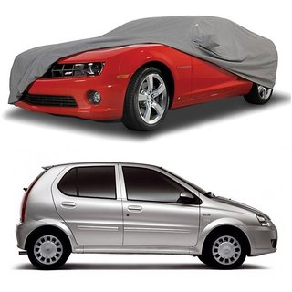 AutoBurn UV Resistant Car Cover For Honda Jazz (Grey With Mirror )