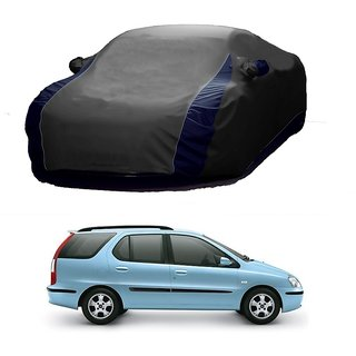 SpeedGlorY All Weather  Car Cover For Tata Indigo Marina (Designer Grey  Blue )