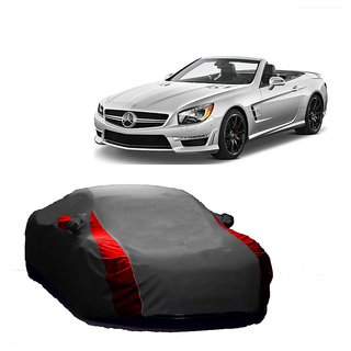 SpeedRo All Weather  Car Cover For Nissan Sunny (Designer Grey  Red )