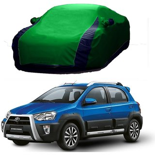 AutoBurn All Weather  Car Cover For Maruti Suzuki Esteem (Designer Green  Blue )