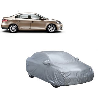 DrivingAID Car Cover For Renault Fluence (Silver With Mirror )