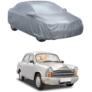 InTrend Water Resistant  Car Cover For Maruti Suzuki Alto (Silver With Mirror )
