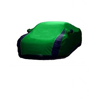 InTrend UV Resistant Car Cover For Hyundai Grand I10 (Designer Green  Blue )