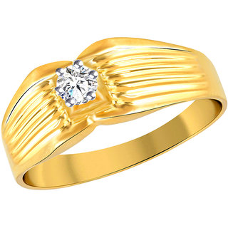 Vidhi Jewels Gold Alloy Gold Plated Ring For Men Boy