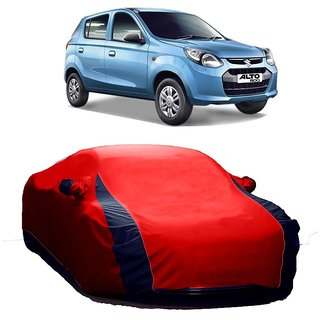 AutoBurn UV Resistant Car Cover For Maruti Suzuki Alto K10 Old (Designer Red  Blue )