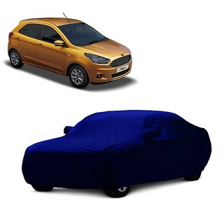 InTrend UV Resistant Car Cover For Fiat Siena (Blue With Mirror )