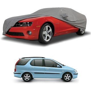 Speediza UV Resistant Car Cover For Tata Indigo CS (Grey With Mirror )