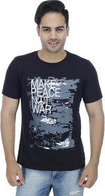 Christy World Black Round Neck Long Sleeve T-shirt for Men