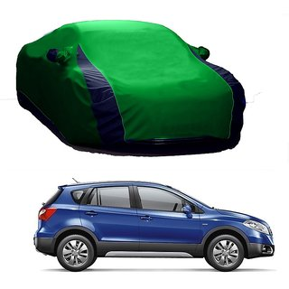 SpeedGlorY All Weather  Car Cover For Fiat Siena (Designer Green  Blue )