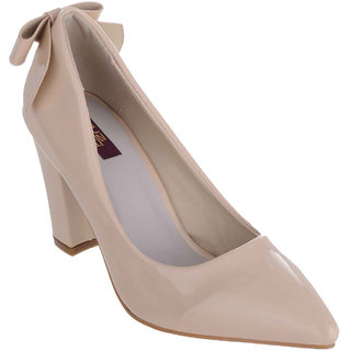 e700c827374b Buy Shuz Touch Women s Beige Heels Online - Get 43% Off