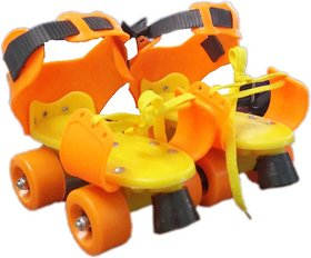 Unique Cartz Adjustable Skates Childrens Kids Quad Roller Skates 4 Wheel Age 3 - 12 Yrs