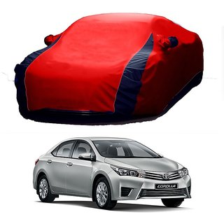 Speediza Water Resistant  Car Cover For Toyota Camry (Designer Red  Blue )