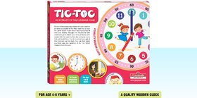 Playmate Tic Toc  Time Learning Educational Game. Age 4 to 8 Years +