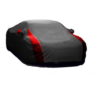 AutoBurn All Weather  Car Cover For BMW Alpina B6 (Designer Grey  Red )