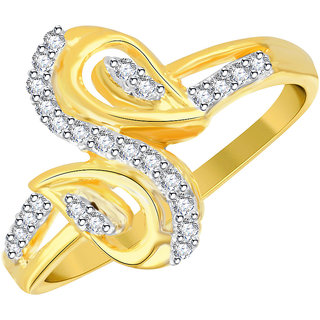 Vidhi Jewels Gold Alloy Gold Plated Ring For Women