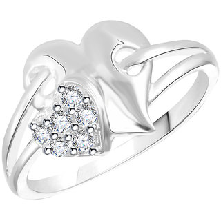 Vidhi Jewels Silver Alloy Silver Plated Ring For Women