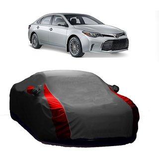 Speediza UV Resistant Car Cover For Honda Amaze (Designer Grey  Red )