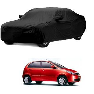 AutoBurn Car Cover For Mahindra Jeep (Black With Mirror )