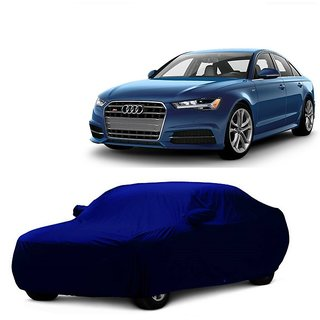 InTrend UV Resistant Car Cover For Ford Figo (Blue With Mirror )
