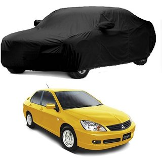 InTrend UV Resistant Car Cover For Mahindra Bolero XL (Black With Mirror )