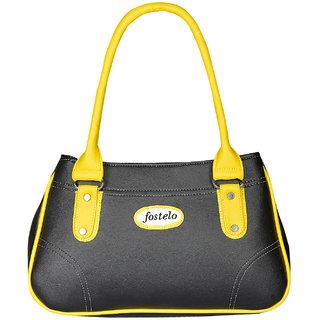 Fostelo Women s Angelia Shoulder Bag Black (FSB-819) bd96272570c34
